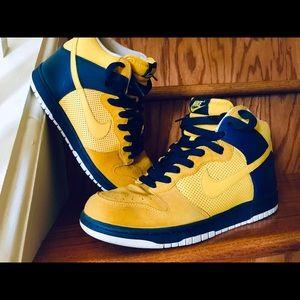 Nike SB Dunks High Pro (yellow/Blue) RARE